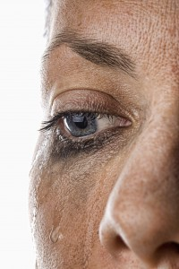 Close Up Shot of a Woman Crying
